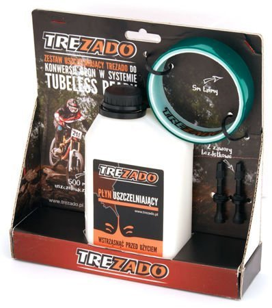 Trezado Tubeless Ready KIT, pink valves